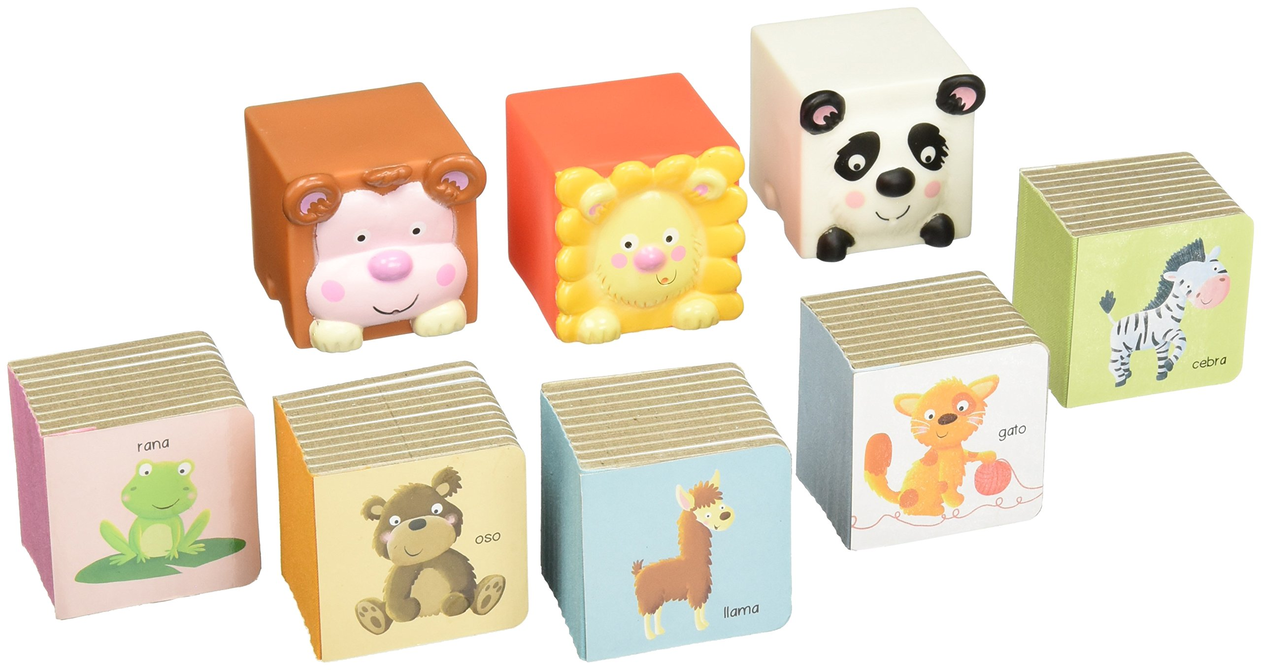 Libros cubo y cubos para baño: animales (Spanish) Board book – 2014