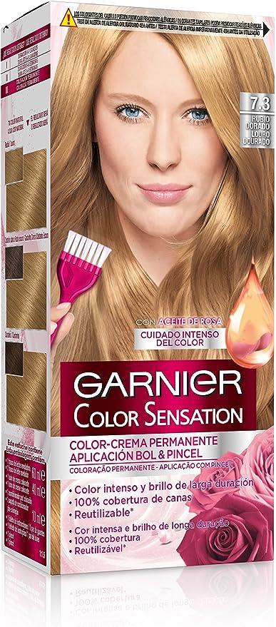 Garnier Color Sensation - Tinte Permanente Rubio Dorado 7.3 ...