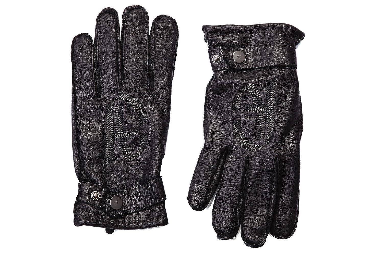 72203fbaa73b Armani Jeans gants homme en cuir logo noir EU L B6406 T9 12  Amazon.fr   Vêtements et accessoires
