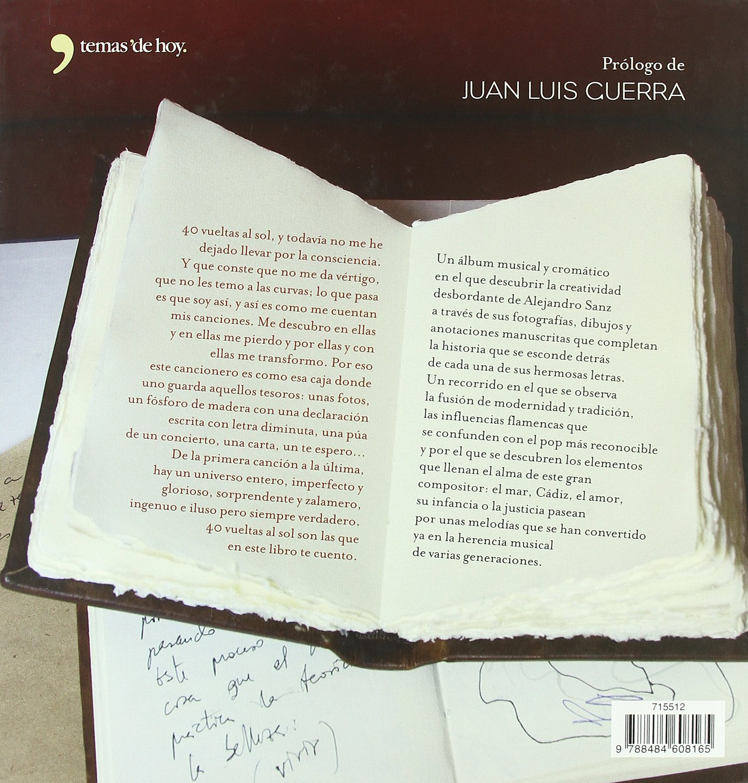 40 vueltas al Sol (Cancioneros): Amazon.es: Sanz, Alejandro: Libros