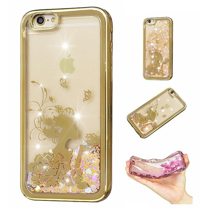 16 opinioni per Per iPhone SE/ 5/ 5S Custodia in Silicone Con Glitter Bling Cover Con Sabbia