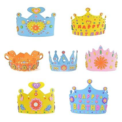 c7f200238a5 V-SOL Niños Sombreros para Cumpleaños Partido Fiesta Decoraciones DIY  Accesorios Multicolor