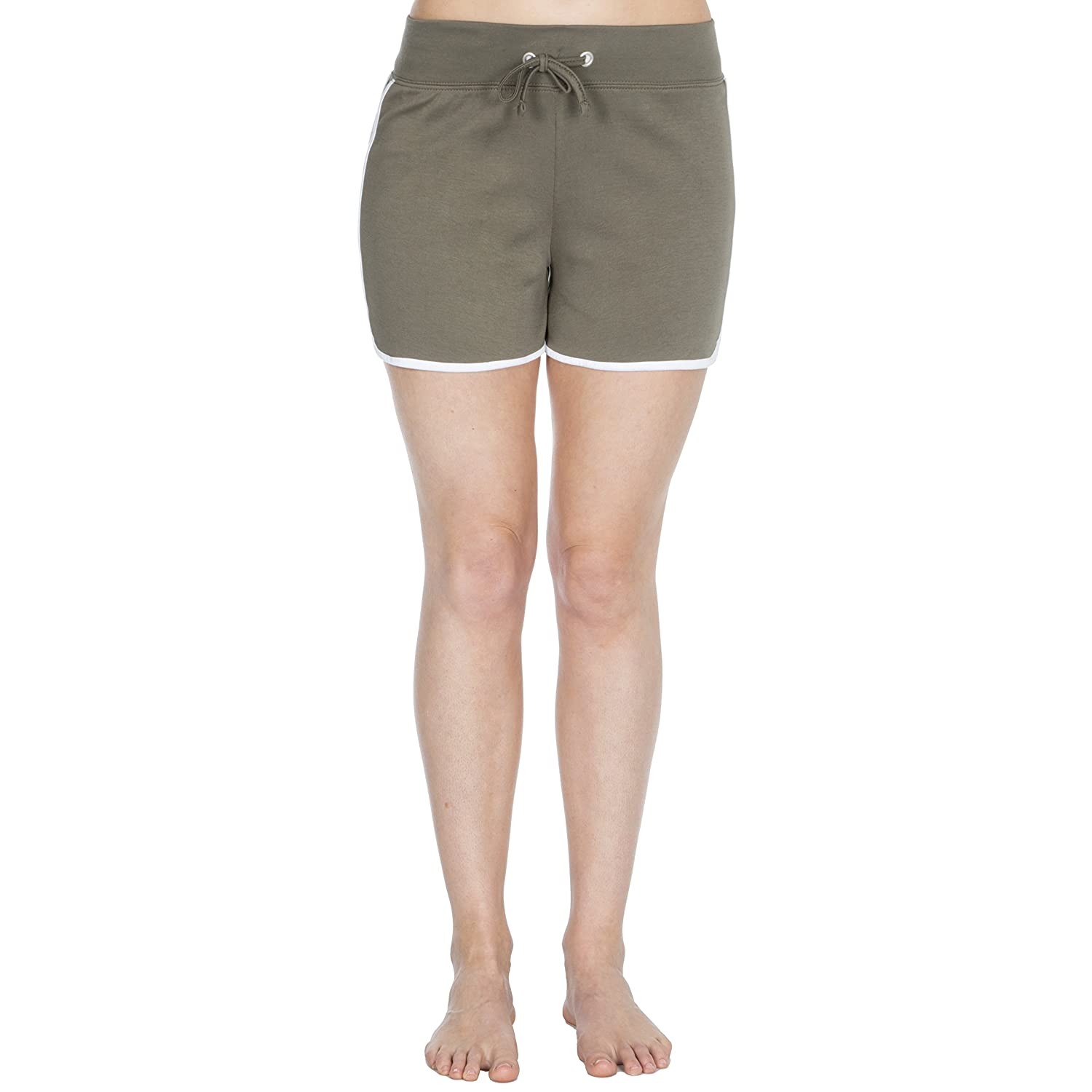 COTTONIQUE Ladies Cotton Jersey Shorts with White Trim
