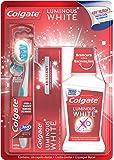 Colgate Luminous White Crema Dental, 75 ml + Colgate Luminous White Enjuague Bucal, 250 ml + 360 Luminous White Cepillo…