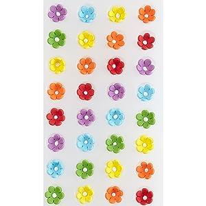 Wilton Mini Daisy Multi-Color Icing Decorations, 32-Count