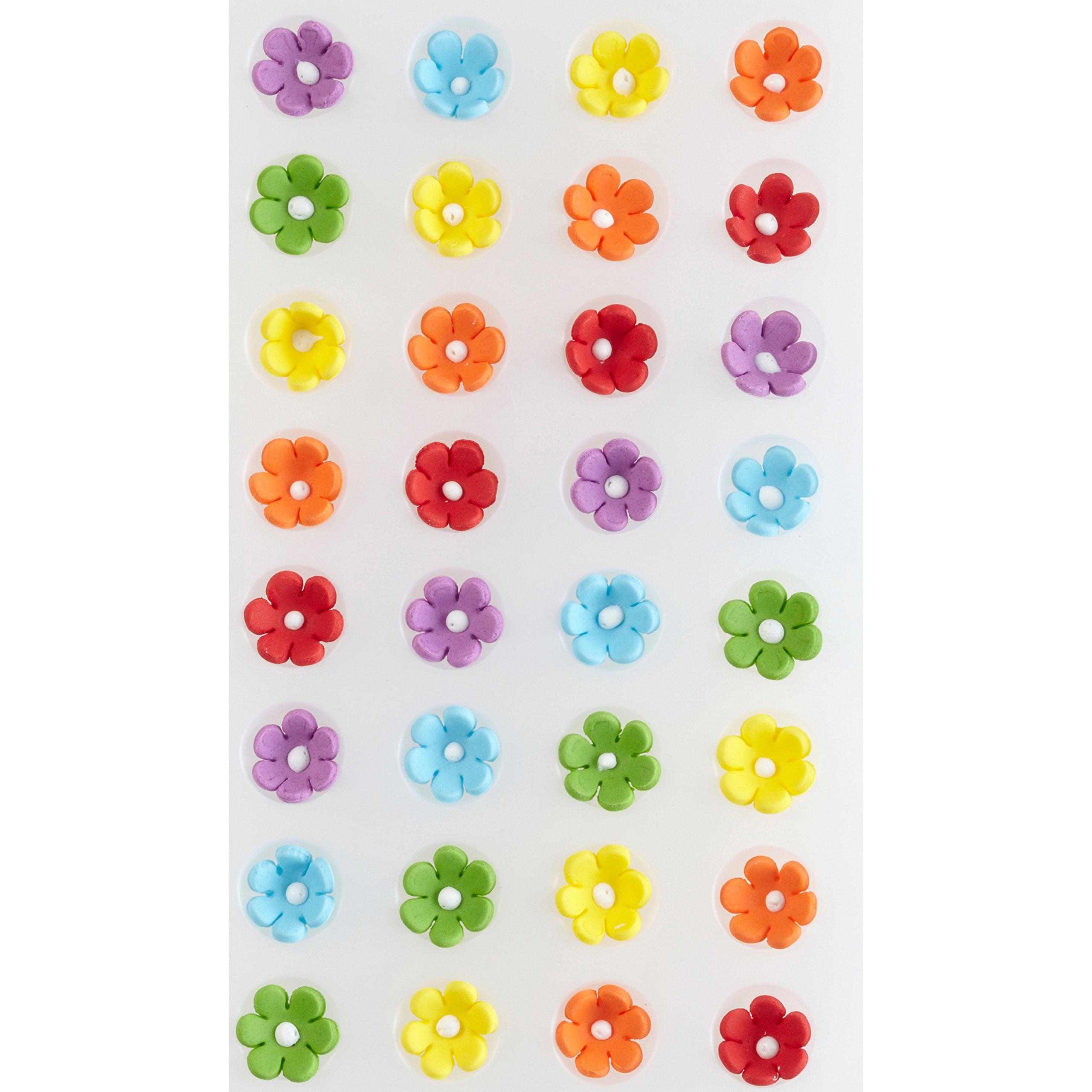 Wilton 710-2215 Icing Decoration, Royal Flower Rainbow, Mini