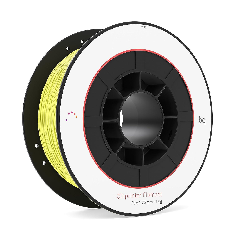 BQ f000100 3d impresora filament, PLA, 1,75 mm, 1 kg, Color Amarillo
