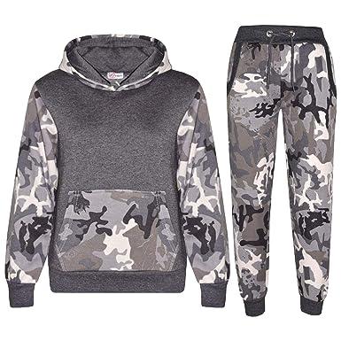 A2Z 4 Kids Enfants Garçons Filles Survêtement Designer Camo Charbon    Charbon Camouflage - T.S Camo 64be5828e63