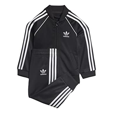 adidas originals black and white tracksuit