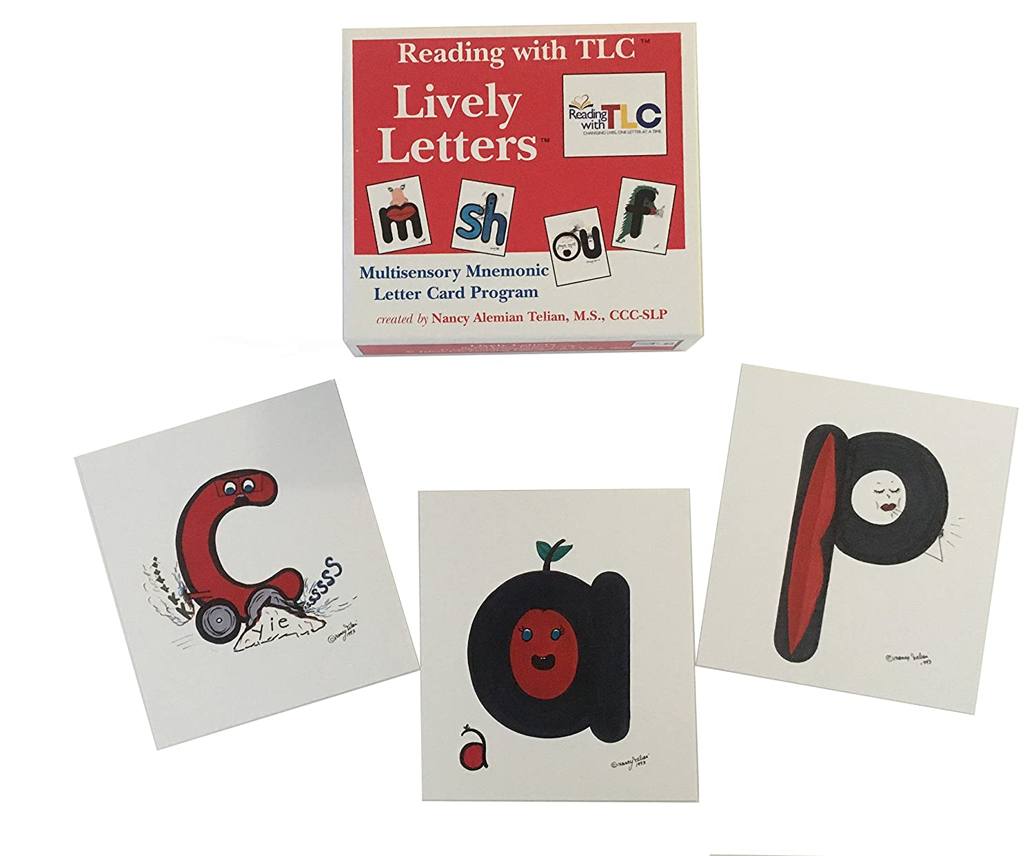 amazon com reading with tlc lively letters boxed cards reading