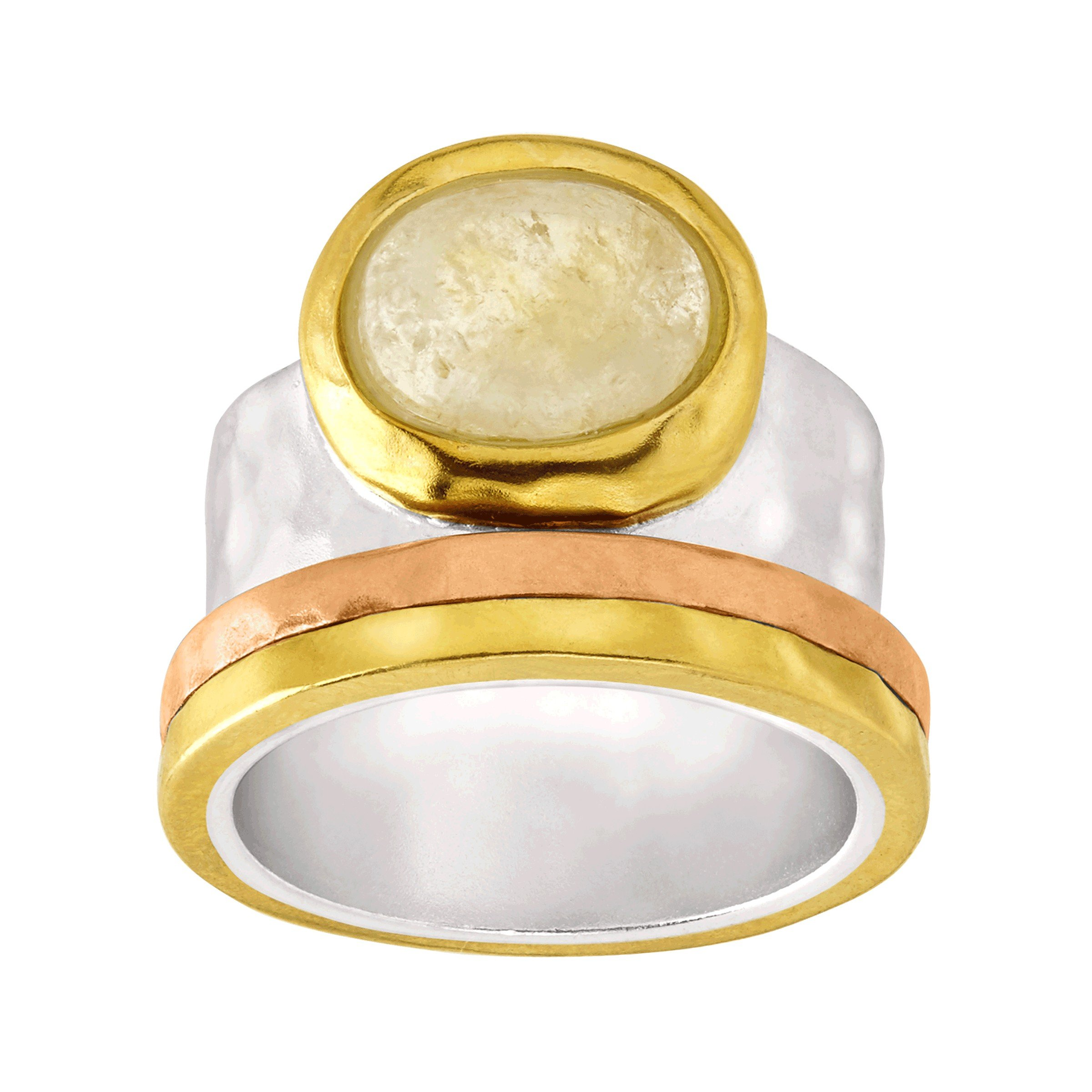 Silpada 'Metallic Mix' Natural Citrine Ring in Sterling Silver, Brass, and Copper