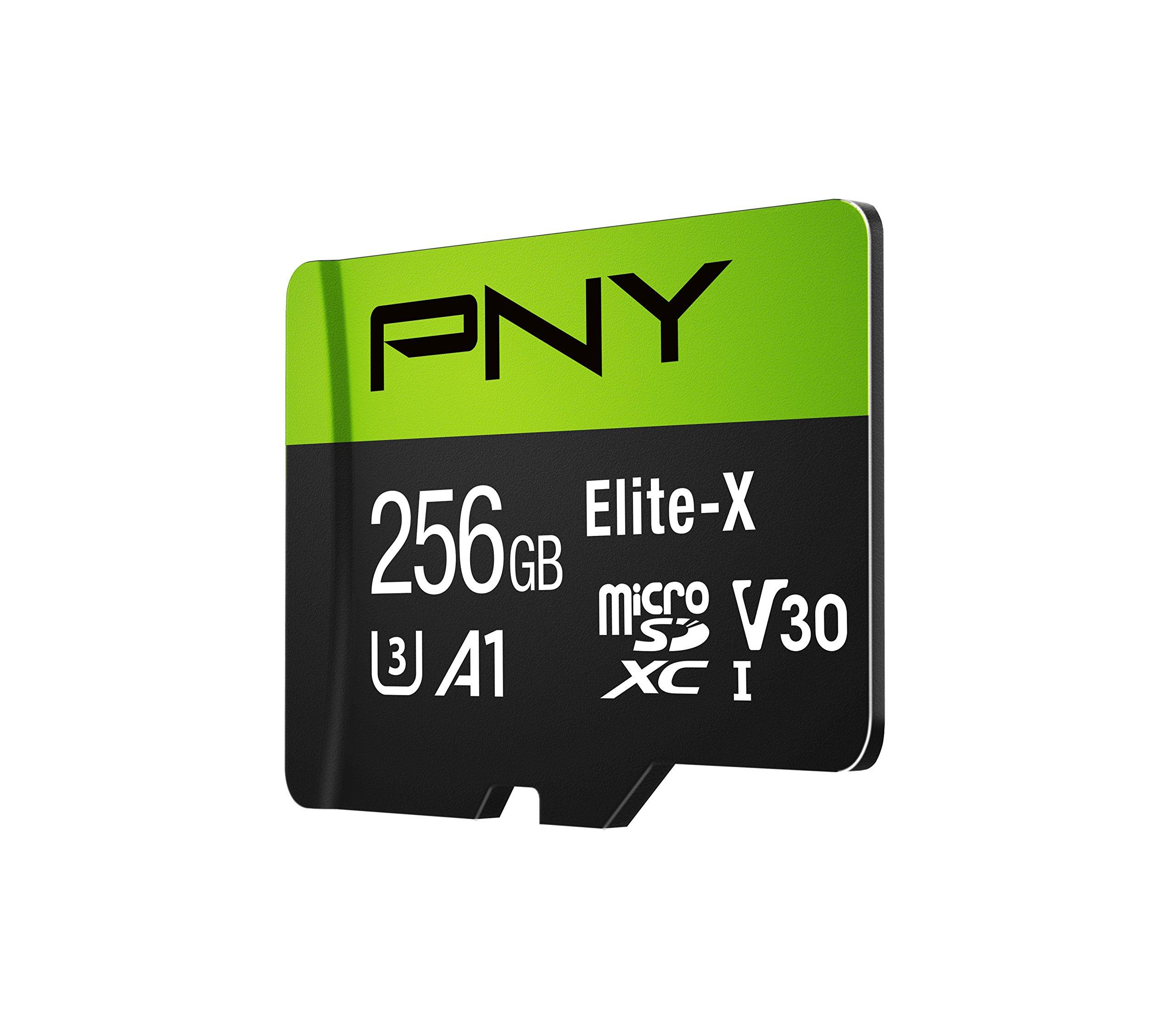 PNY Elite-X microSD 256GB, U3, V30, A1, Class 10, up to 100MB/s – P-SDU256U3100EX-GE by PNY (Image #3)
