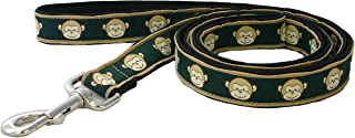 product image for Monkey Pattern Canvas Dog Leash - Standard (3/4 Inch, Emerald)