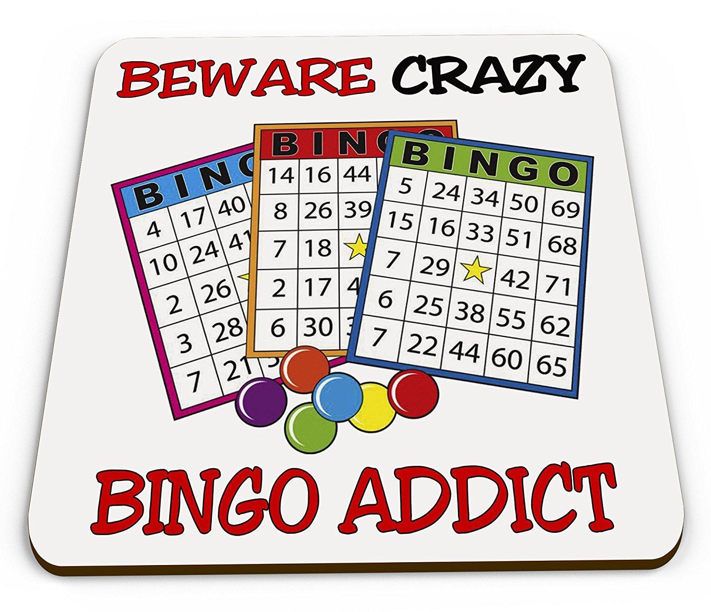 Devin Beware Crazy BINGO Addict Novelty Coaster