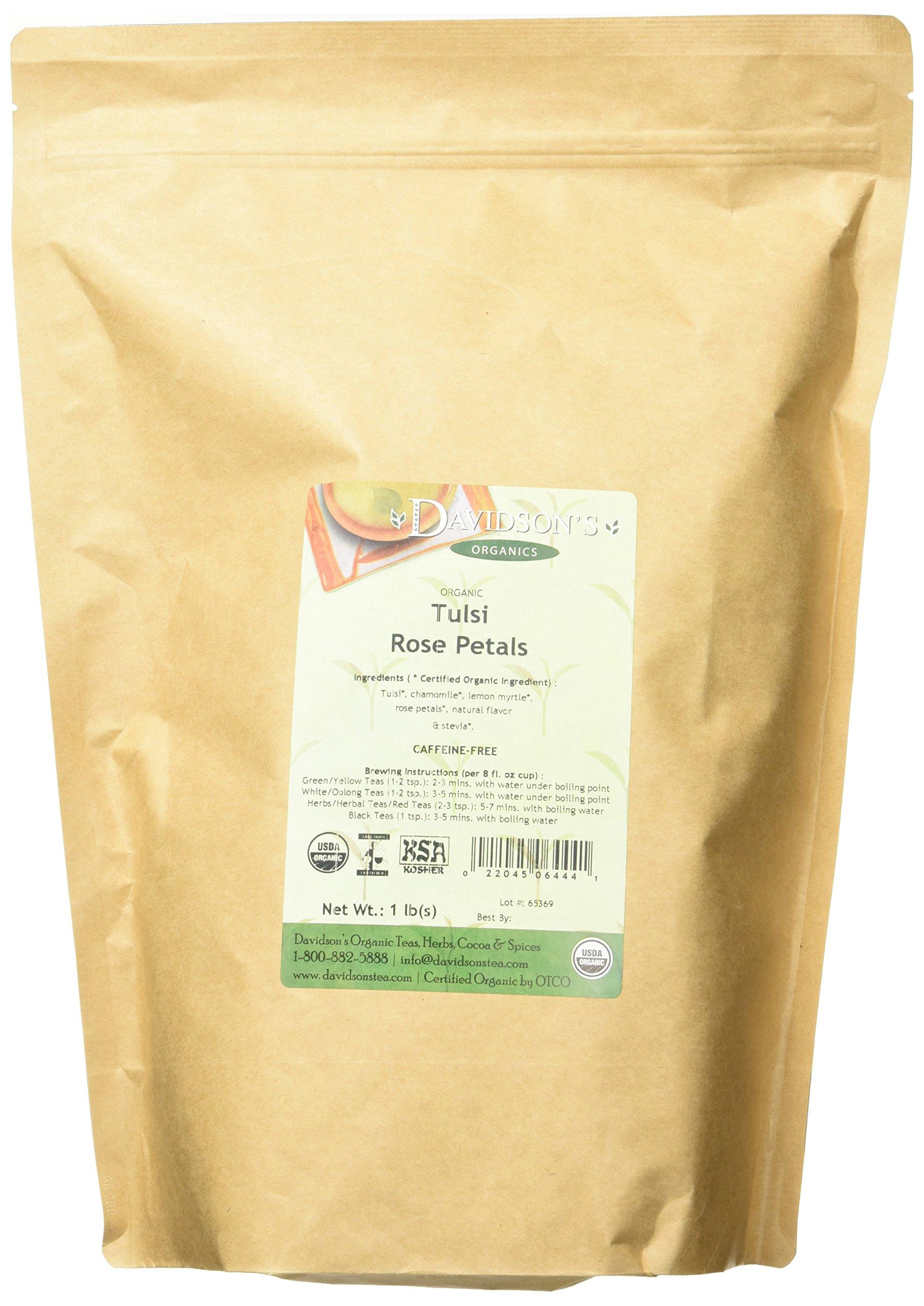Bulk herbs spices organic organic herbal tea - Davidson S Tea Bulk Bag Organic Tulsi Rose Petals 16 Ounce