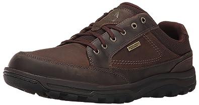 Rockport Men's Trail Technique Waterproof Oxford Walking Shoe- Dark Brown-7.5  M