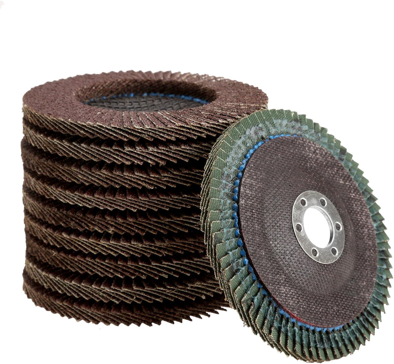 80# 10Pcs 4/'/' Flap Disc Abrasive Sanding Polishing Wheels Grinding Disc 60#