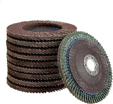 10Pcs 4 Inch Flap Sanding Disc Grinding Wheel for Angle Grinder 60 ~ 320 Grit