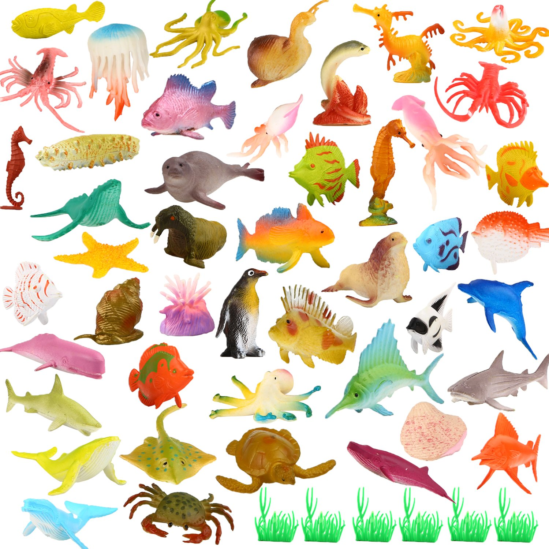 YeoNational Toys Animales de Juguete, Surtido de 52 Mini Figuras de ...