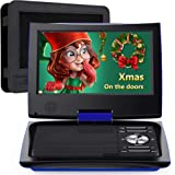"""SUNPIN 11"""" Portable DVD Player with 9.5 inch HD Swivel Screen, Dual Earphone Jack, Supports SD Card/USB/CD/DVD and…"""