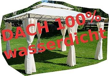 low priced 0dc76 0075a ASS Gartenpavillon Pavillon 3x4 Meter, 12m², Dach 100% wasserdicht und  UV30+ Sonnenschutz, mit 6 Vorhängen, rechteckig von