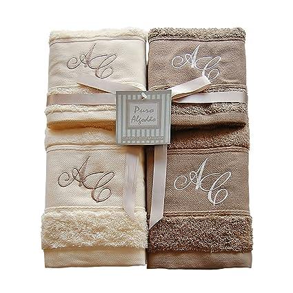 Personalizado Monogram chenilla 500 gsm toallas de baño – 3 piezas Set – Hoja de baño