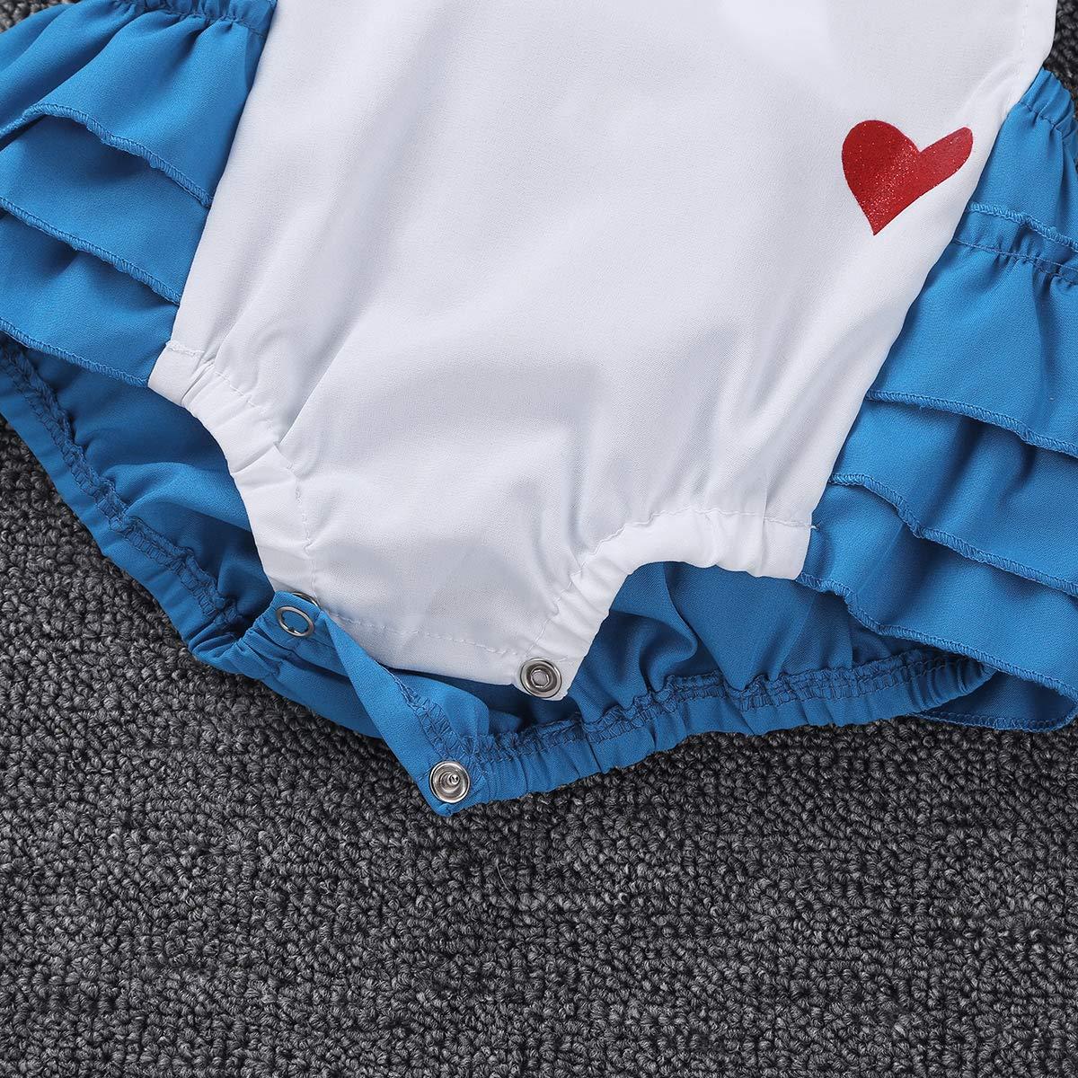 CHICTRY Wonderland Baby Girls Romper First Birthday Princess Cross-Back Tutu Ruffles Dresses Costumes
