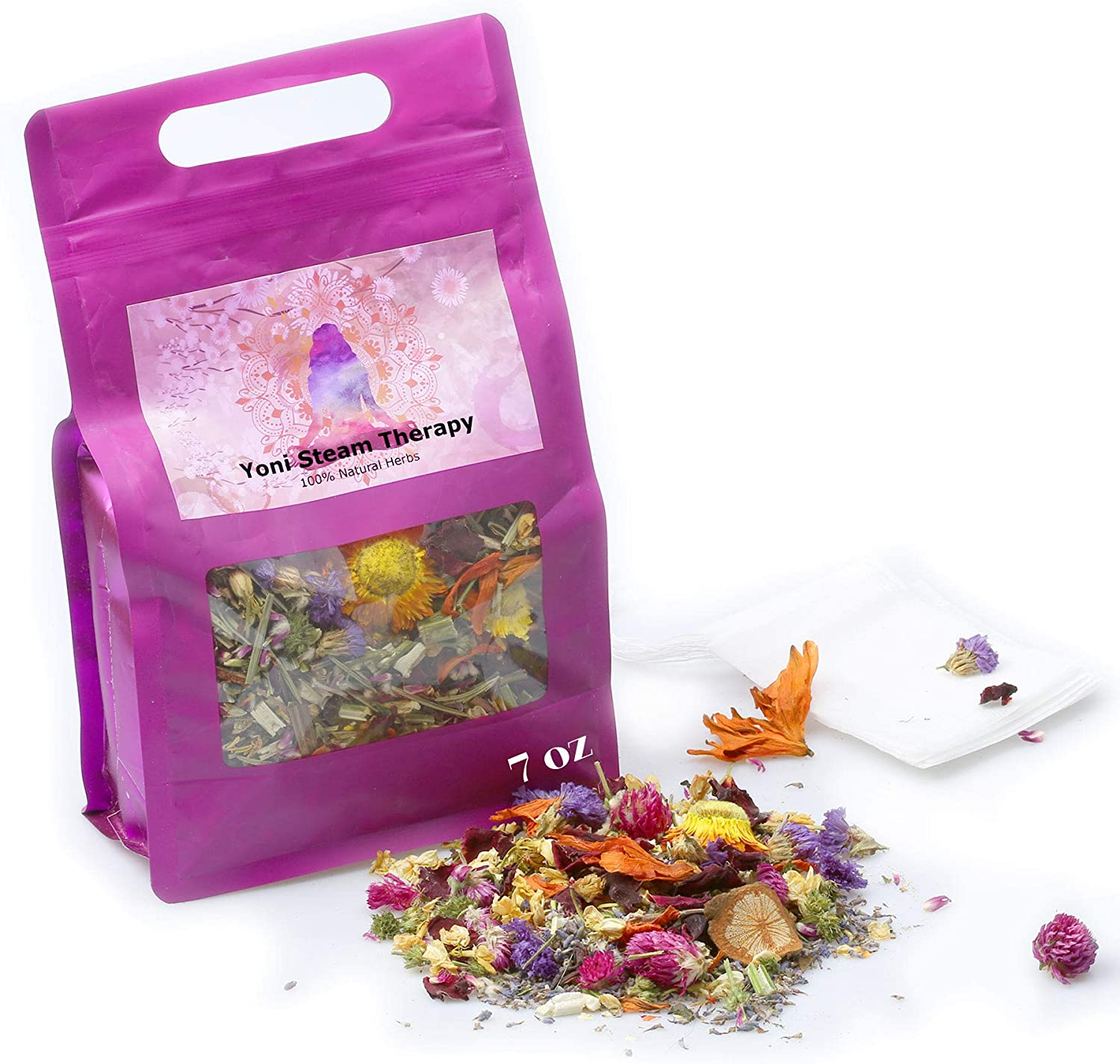 Bulk Yoni Steam Herbs for Cleansing and Tightening, 7 Ounce (15 Steams) V Steaming Herbs Detox, Vaginal Steam Home Spa Bath, Natural Herbal Steaming Kit for Women Menstrual Cycle Fertility Menopause