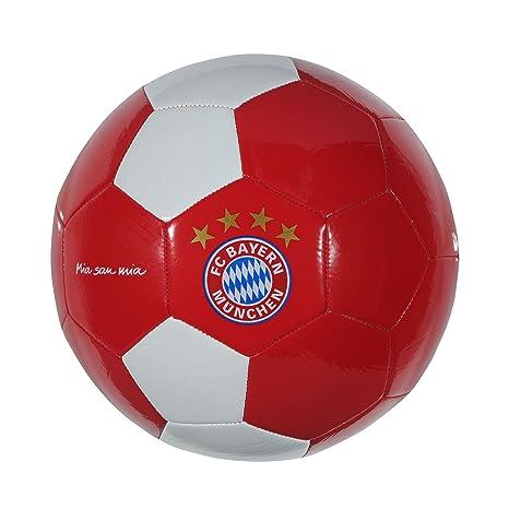 Balón Mia San Mia de FC Bayern Munich, color rojo/blanco, tamaño 5 ...