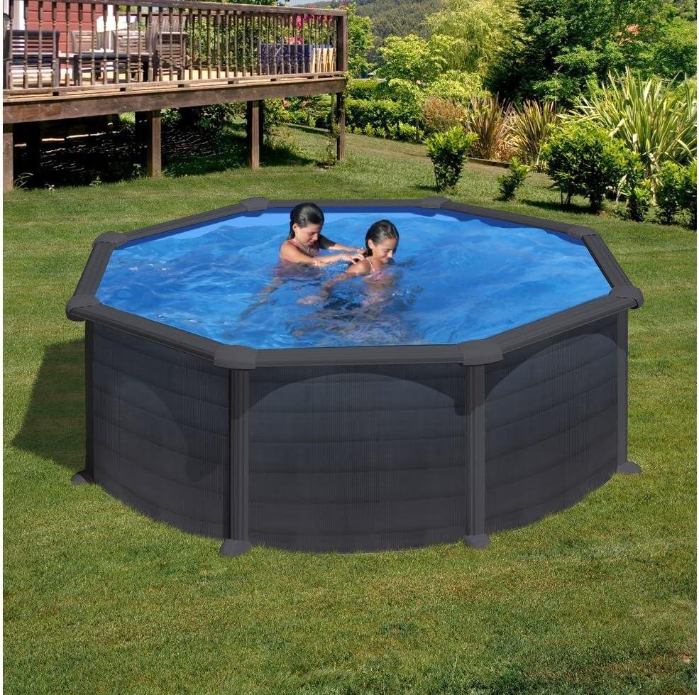 Piscina de acero redonda Gre Granada 350x132: Amazon.es: Hogar