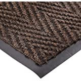 "NoTrax 105 Chevron Entrance Mat, for Lobbies and Indoor Entranceways, 3' Width x 4' Length x 5/16"" Thickness, Brown"