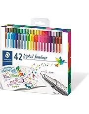 Staedtler Fineline Pen Triplus, 42 Assorted, Brilliant Colours, Set of 42, (334 C42)