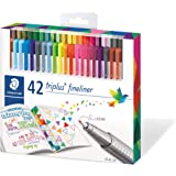 Staedtler 334C42 Triplus Fineliner 42-Color Assorted Super Fine Water-Based Marker
