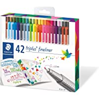 Caneta Fineliner, Staedtler, Fineliner Triplus, Estojo com 42 cores, 334 C42 02