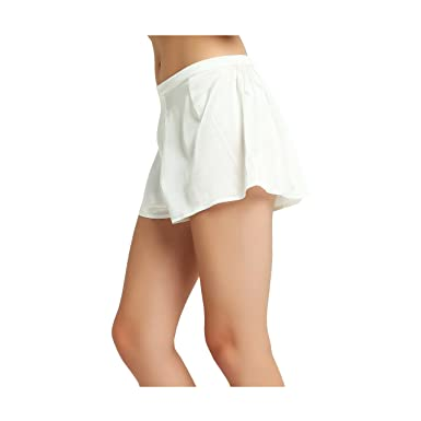 dd2ba31a1f3 Jasmine Silk Lady s Classic Silk French Knickers boxers Medium (12-14)  Ivory  Amazon.co.uk  Clothing