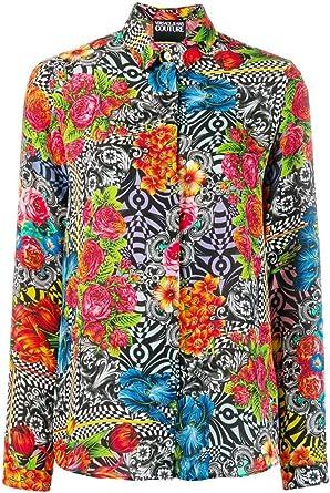 Versace Camisa Multicolor Jeans Couture con Estampado Gráfico ...