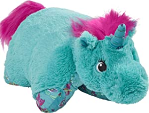 "Pillow Pets Colorful Teal Unicorn - 18"" Stuffed Animal Plush Toy"