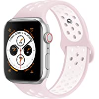 AdMaster Compatible for Apple Watch Bands 38mm 40mm 42mm 44mm,Soft Silicone Replacement Wristband Compatible for iWatch Apple Watch Series 1/2/3/4