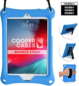 Cooper Bounce Strap [Rugged Silicon Carry Case] for Apple iPad Mini 4 3 2 1 | Multi-Functional Heavy Duty with Stand, Hand & Shoulder Strap (Blue)