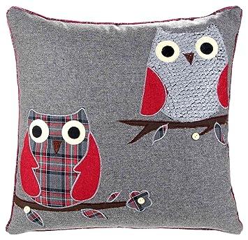 Amazon.com: Ideal Textiles, búho fundas de cojín, cojines de ...