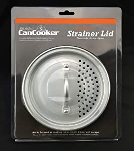 CanCooker Inc. SL-1080 Strainer Lid, One Size, Brushed Aluminum