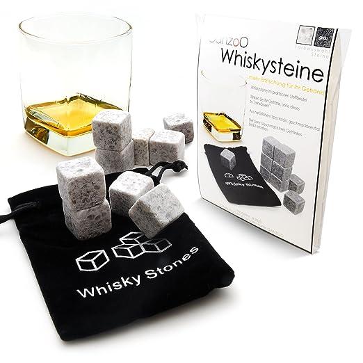 """2 opinioni per 'Set di 9pietre per Whisky in pietra ollare naturale per bevande """"on the Rocks,"""
