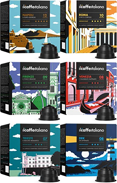 96 Cápsulas de café compatibles con maquinas Dolce Gusto® - kit ...