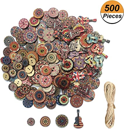 NEW 15 x Stunning Tree Design Wooden Buttons 15mm FREE P/&P