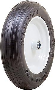 "Marathon 3.50/2.50-8"" Flat Free Tire on Wheel, 3"" Centered Hub, 3/4"" Bearings"