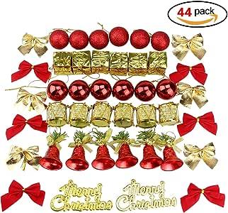 44 Pack Árbol de Navidad Decorativo Surtido Conjunto Rojo ...