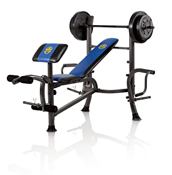 Amazoncom Marcy OPP Bench and 80Pound Weight Set Olympic