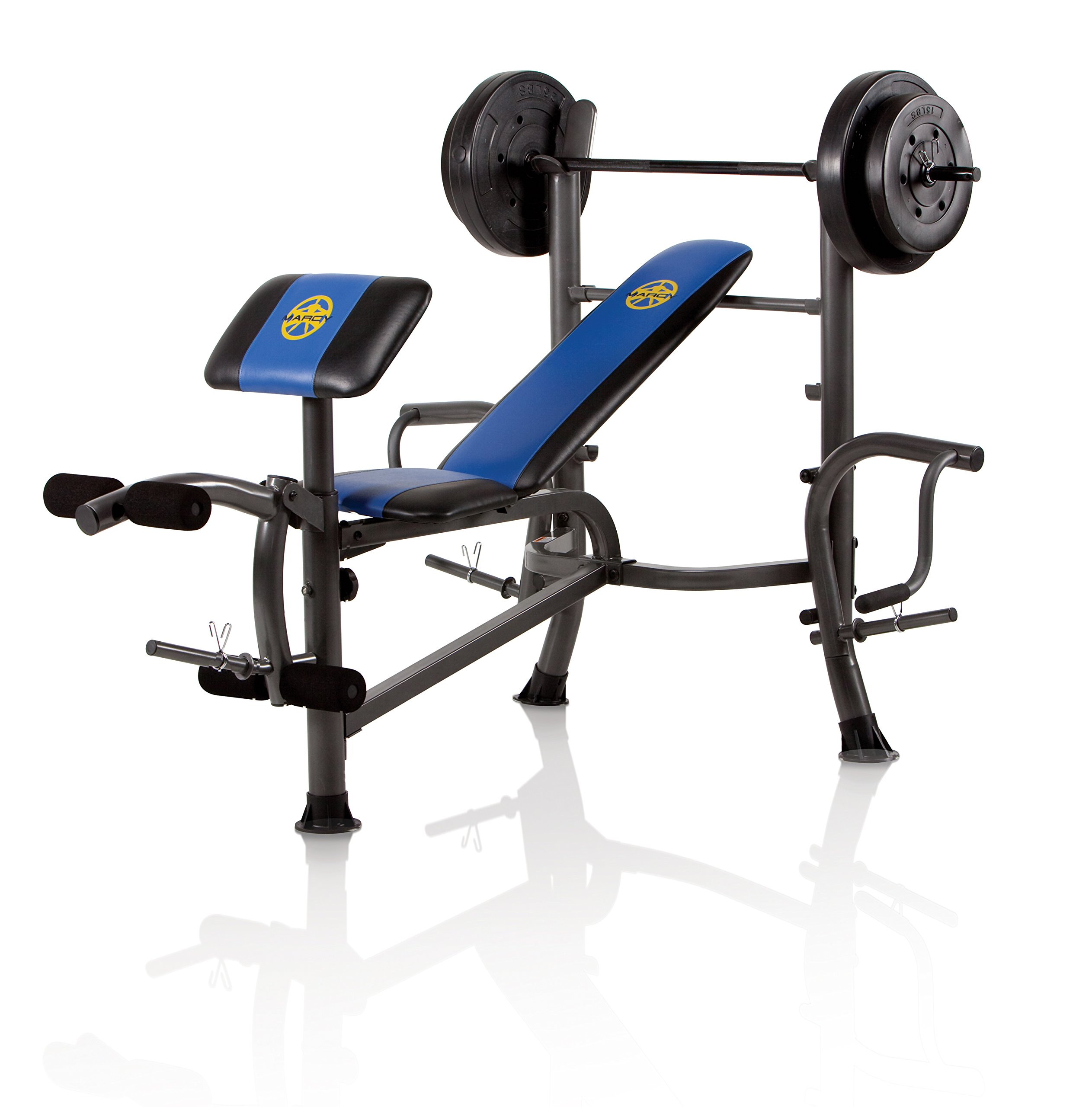 Marcy OPP Bench and 80-Pound Weight Set