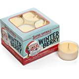 Santa's Naturals Winter Berry Christmas Tea Light Candle | Warm Cider Fragrance | Made with Essential Oils and a Soy…