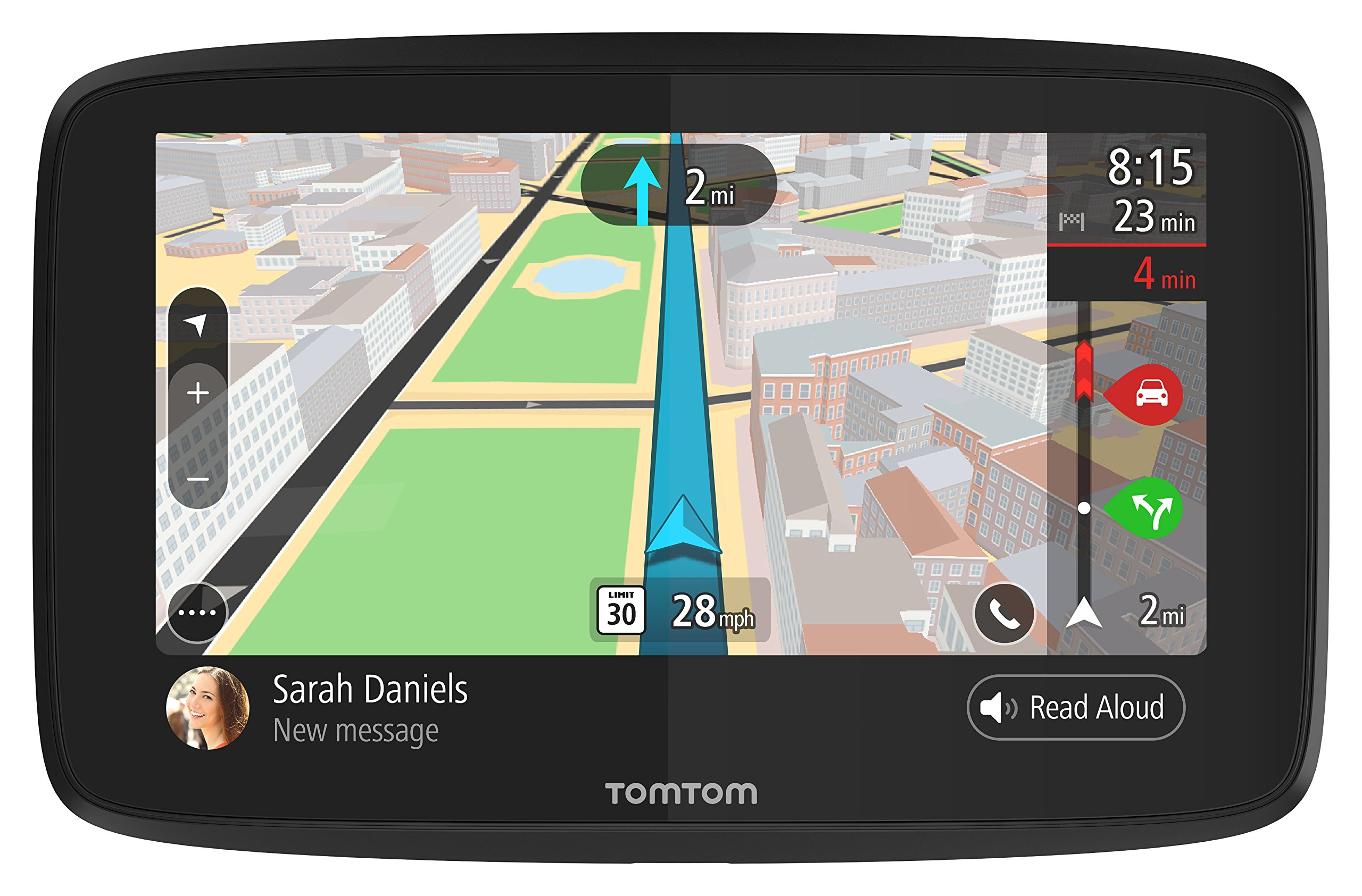 TomTom GO 52 with Lifetime Maps/Traffic, Updates via Wi-Fi, Compatible with Siri and Google Now, Hands-Free Calling and Smartphone Messaging